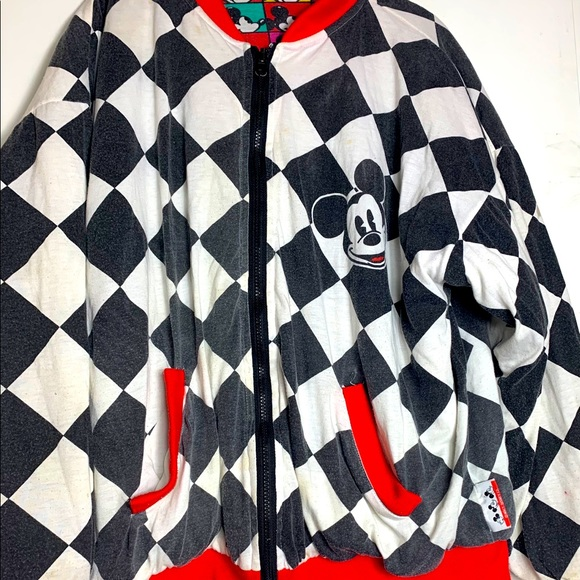 Vintage Reversible Mickey Mouse Bomber Jacket